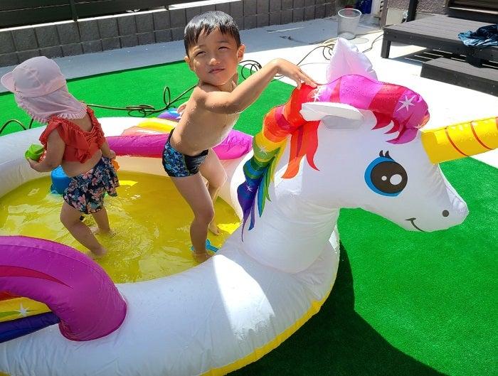 小原正子、プールでふざける息子達に説教「お父さんがいないもんだから自由にしまくり!」