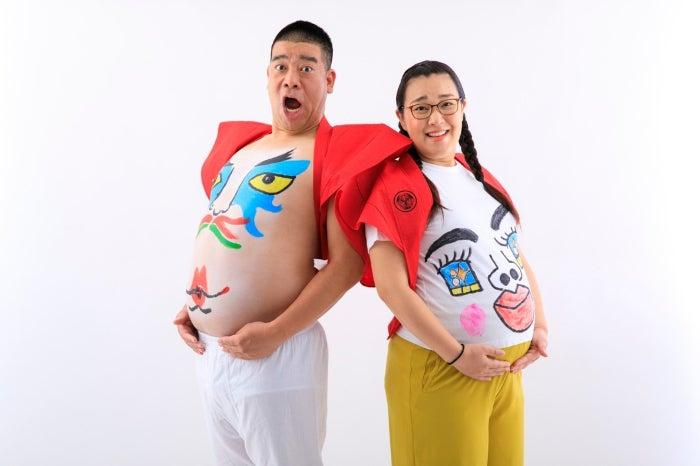 チェリー吉武、妻・白鳥久美子と撮影したマタニティフォト「どちらもお腹大きくなりました」