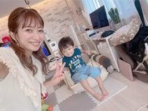 辻希美、夏休みに大活躍中の屋内ブランコ「激しめが好き過ぎて」