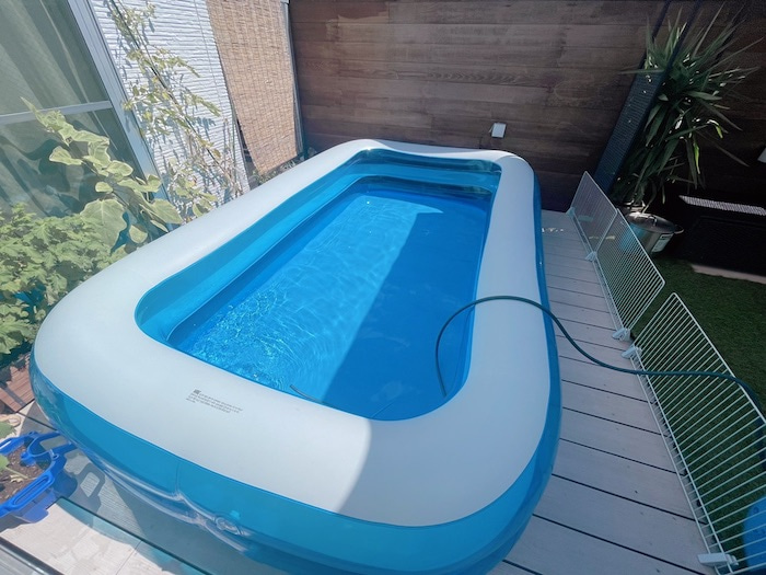 辻希美、穴が空いた自宅プールを補修するも「我が家のプール…終わりました」