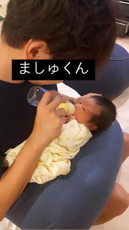 第一子出産くみっきー、ミルクをあげるパパ姿に「幸せ」
