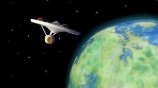 100均のムーンライトで「スタートレック」みたいな映像を撮ってみた! ライト3つを塗装して映像をデジタル合成したら昭和SFっぽい惑星に