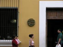 アンティグアの看板