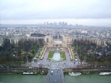 エッフェル塔からの景色。