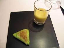 栃木県産とうもろこしのスープとポレンタ