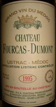 Ch Fourcas Dumont 1995