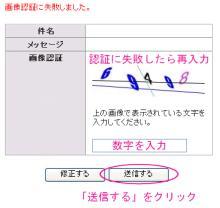 5.画像認証失敗→再入力