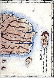 1834年の鬱陵島の地図