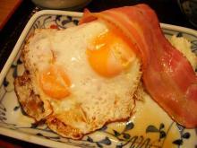 ベーコンエッグ定食-3
