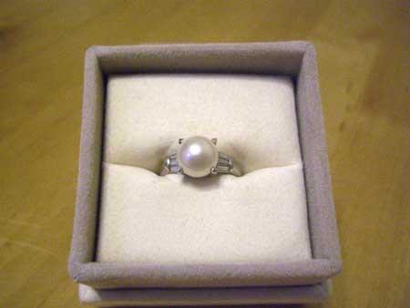 真珠の指環