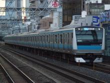 中央線の電車と釜-ウラ105