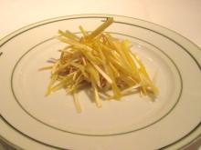 うっちぃのランチメモ-押し豆腐と黄ニラ