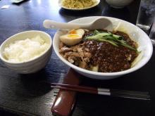 汁有りジャージャー麺+小ライス