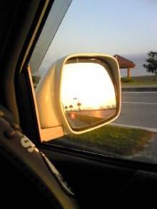 帰りの夕日