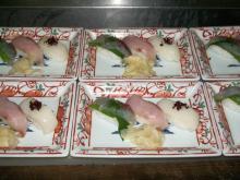 6月27日 御凌ぎ 握り寿司3点
