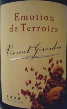 Emotion de Terroirs Vincent Girardin Blan 2005