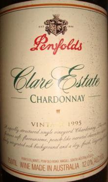 Clare Estate Chardonnay 1995 Penfolds