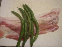 いんげんの豚肉まき3