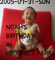 NOAH'S BIRTHDAY IN PROSPECT PARK!