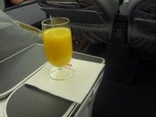 コンセプトなき旅行の足跡-ウェルカムドリンクのオレンジ