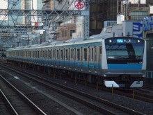 中央線の電車と釜-E233-1000*147