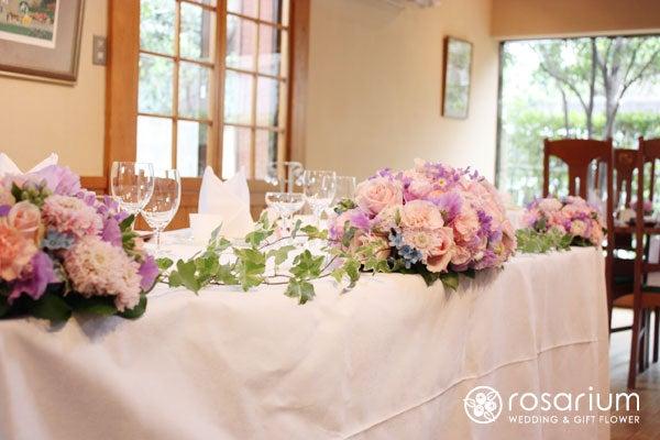 桜の日の会場装花|ロザブロ ウェディングフラワー&ギフトフラワーのアトリエ