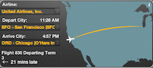 コンセプトなき旅行の足跡-UA830 SFO-ORD