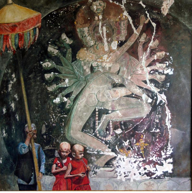 渡辺元司の絵画作品-出家儀礼曼陀羅