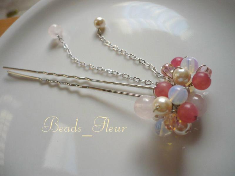 ビーズジュエリー「Beads_Fleur」            *岡田 由佳子*