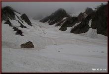 ロフトで綴る山と山スキー-雪渓下部