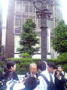 すじてつジャストライン-日本橋到着後の種村氏