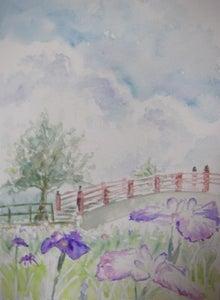 ビビのブログ-賀茂神社 菖蒲園 スケッチ