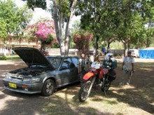 オートバイ二人乗りの旅