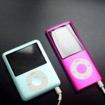 ブルーとピンクのiP…