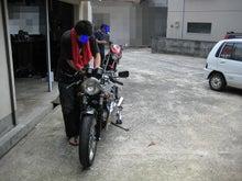 乗車定員2名。-バイク掃除