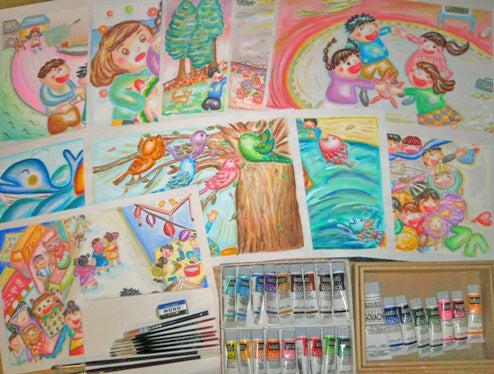 $マホのブログ/こころのパレット-画材と作品