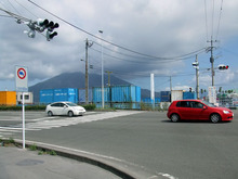 カルマンギアのある生活-桜島の上は曇り?