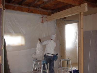 リノベーションで心豊かな北海道の暮らしを実現したい!-天井塗装前ビフォー