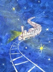 鉄道 の 夜 イラスト 銀河