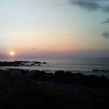 屋久島の朝焼け(海)