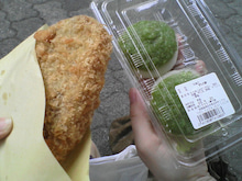 $遥香の近況日記-メンチカツ&ずんだ餅