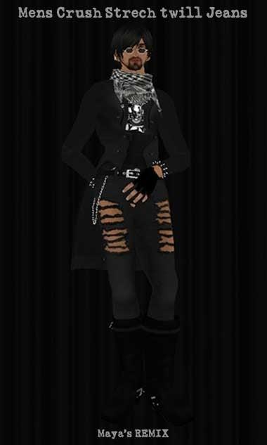 Maya's style / Second Life Fashion-Maya's REMIX mens crush stretch twill jeans
