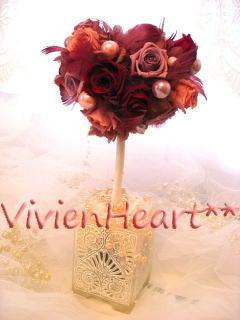 Vivien Heart**-ワインレッド