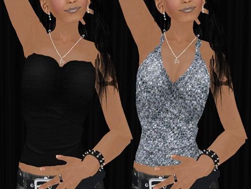 Maya's style / Second Life Fashion-Maya's REMIX side zip layered tank detail  1