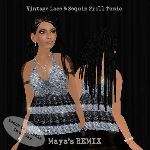 Maya's style / Second Life Fashion-Maya's REMIX lace & sequin frill tunic 2
