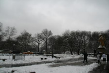世界一周★タイムズ-0222雪のセントラルパーク