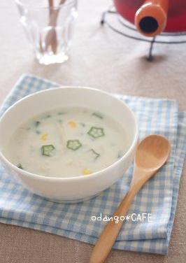 温でも冷でも♪オクラのクリーミースープ