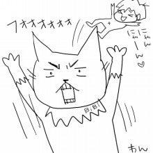 トモにゃん日記 ~育児&猫4コマまんが~-骨田わん画伯2