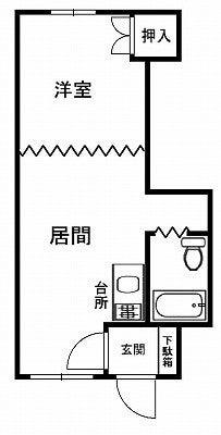 チュリス神楽岡C105間取