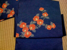 Kimono生活 店主雑記-リメイク椿帯